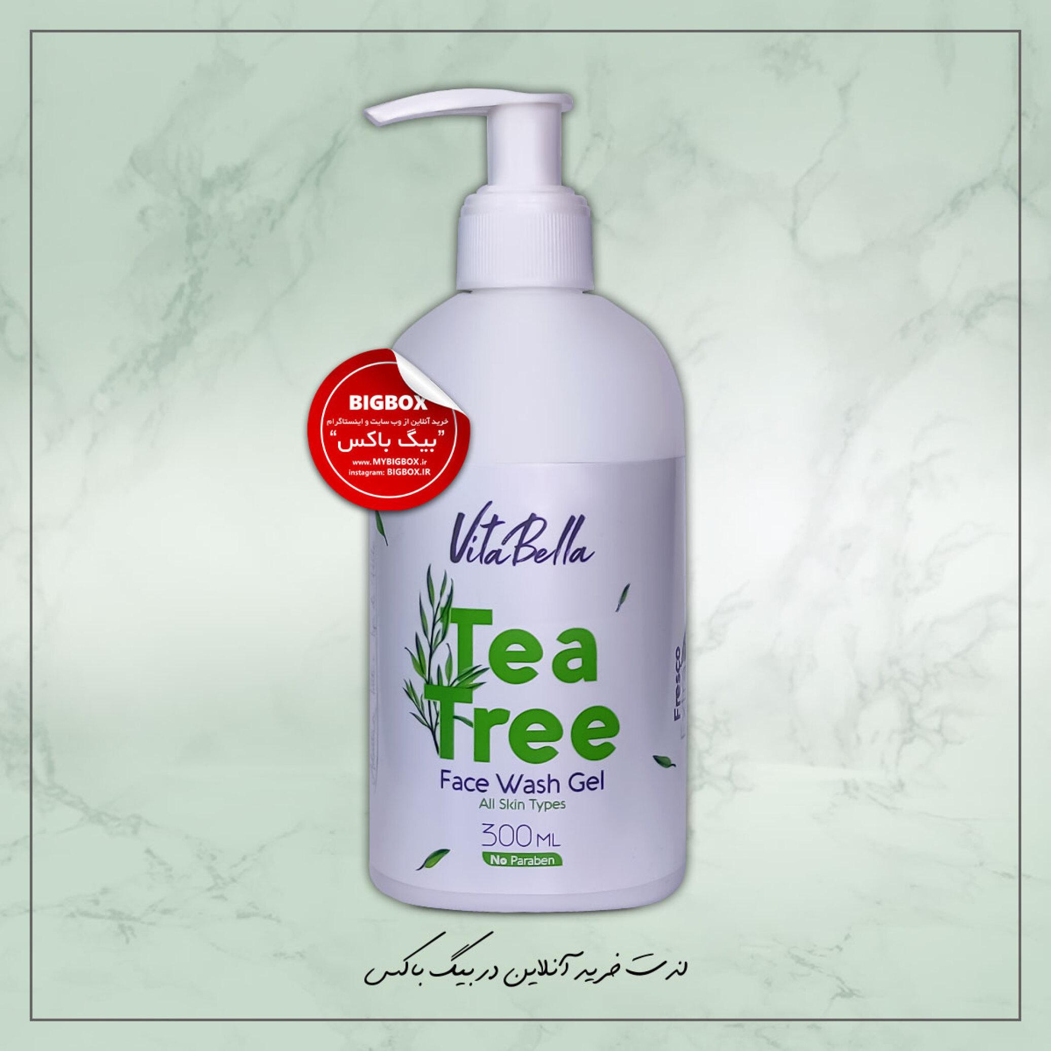 ژل شستشو صورت ویتابلا مدل درخت چای لیمو حجم 300 میلی لیتر VitaBella Face wash Gel Lemon Tea Tree Oil