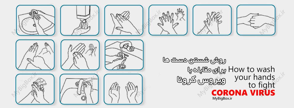 شستن دستها برای مقابله با کرونا