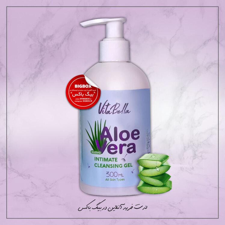 ژل بهداشتی بانوان ویتابلا مدل آلوئه وار حجم 300 میلی لیتر VitaBella Aloe Vera Intimate Cleansing Gel