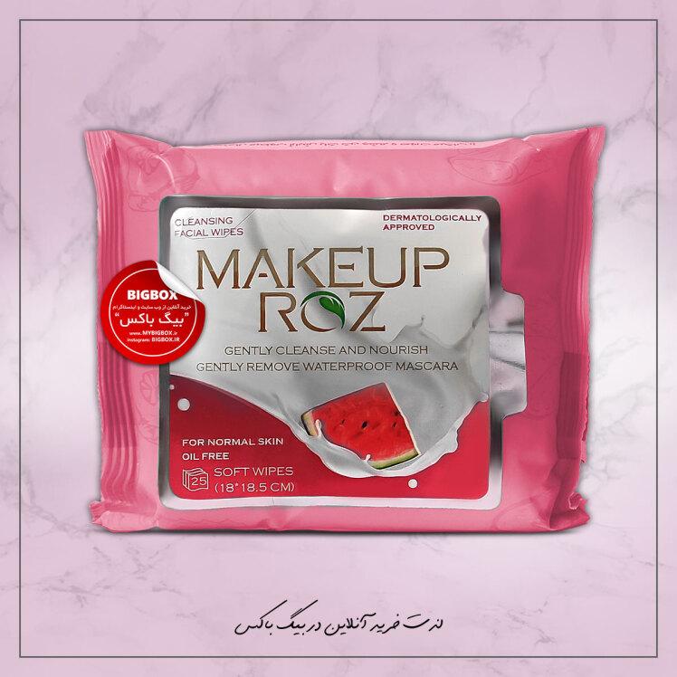 دستمال مرطوب آرایش پاک کن میکاپ رز مدل هندوانه